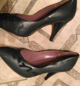 СТИЛЬНЫЕ зеленые туфли р. 38 НАТ. КОЖА