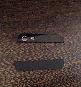 Стеклянные вставки Айфон 5 черные