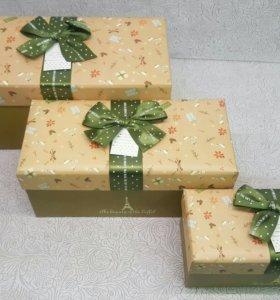 Подарочные коробки, коробочки. Разные размеры.