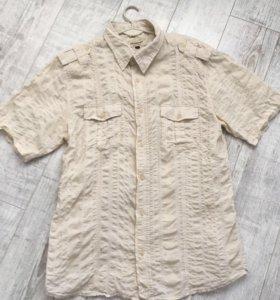 Рубашка мужская из жатого хлопка