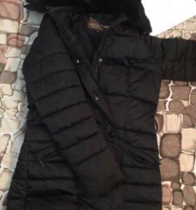 Куртка-пальто с мехом!!