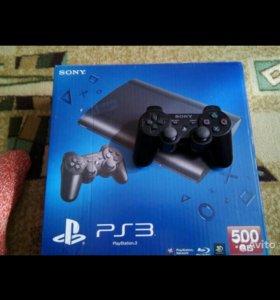 Sony Playstation 3 Super Slim 500 Gb+игры