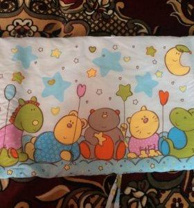 Бортики в детскую кровать двухсторонние