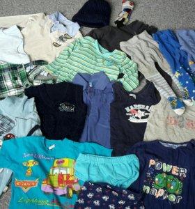 Детские вещи на мальчика 1-3 года пакетом