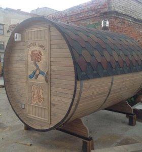 Баня - бочка на 2 отделения длина 3 метра
