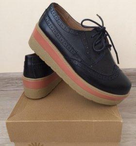 Туфли женские кожаные,размер 34.