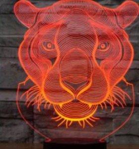 """3D ночник """"Тигр"""""""