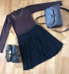 Водолазка и юбка