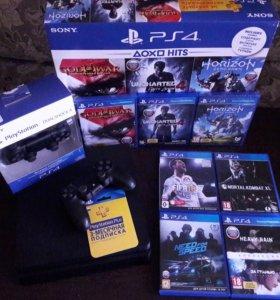 Sony PlayStation 4 500GB + геймпад + подписка
