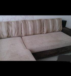 Продам диван (угловой, раскладной)