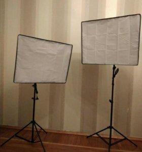 Софтбоксы. Комплект студийного света.