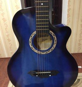 Гитара новая синяя + подарок