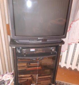 Телевизор, тумба под телевизор,видеомагнитофон