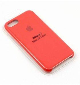 Чехол накладка для iPhone 7 8 красная