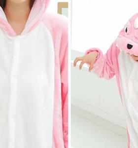 Кигуруми с динозавром! Розовый!