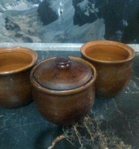 Горшочки глиняные