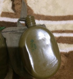 Фляга алюминиевая армейская