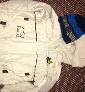 Куртка, шапка, свитер