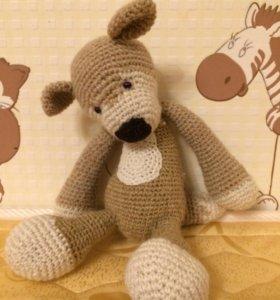 Вязанная , мягкая игрушка, сделанная своими руками