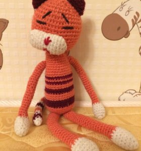 Вязанная, мягкая игрушка, сделанная своими руками!