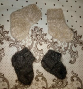 Носочки детские шерстяные