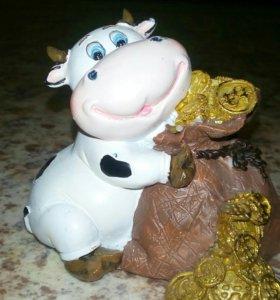 Корова с деньгами