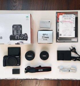 Canon EOS M3 + 2 объектива
