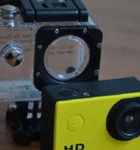Экшн камера, снимает в HD, под водой.