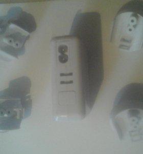 USB зарядное устройство с розетками для всех стран
