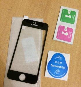 Новое 3D стекло на iPhone 5, 5C, 5S, SE