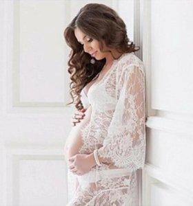 Кружевная сорочка для фотосессии беременных