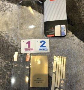 Золотая пленка на Айфон 5/5S/5C