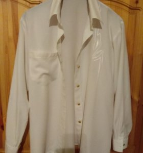 Белая блузка из вискозы 46-48 размер