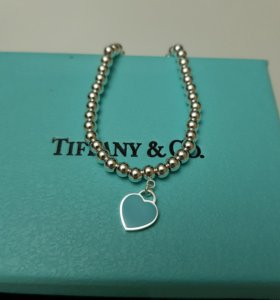 Браслет Tiffany с мятным сердцем