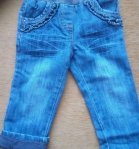 Утеплённые джинсы 92р.