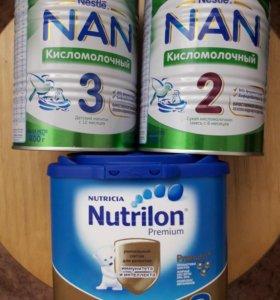 смесь детская nan, nutrilon