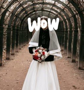 Лучшее атласное свадебное платье