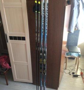 Беговые лыжи комплект(коньковые)