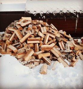 Колотые дрова (береза) влажные