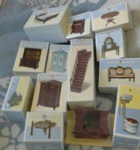 Мебель и другие предметы для кукольного домика