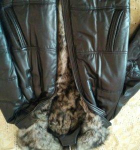 Куртка кожанная на меху