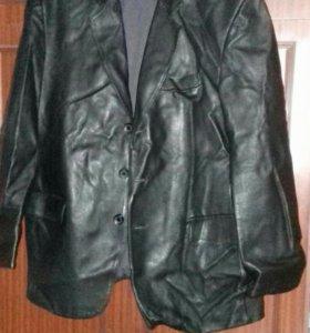 Куртка мужская из кожзама 60-62