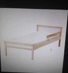 Кровать икеа +матрас