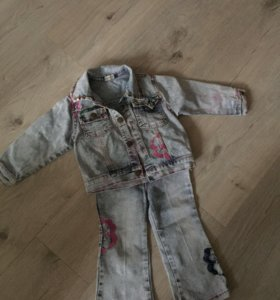 Джинсовый костюмчик для девочки 2-4 лет