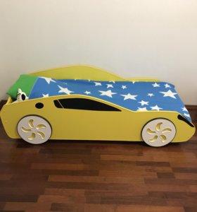 Кровать-машина с ортопедическим матрасом
