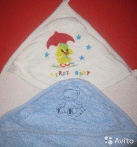 Полотенца с уголком для малыша