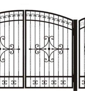 Кованые ворота 0,5 ковка.