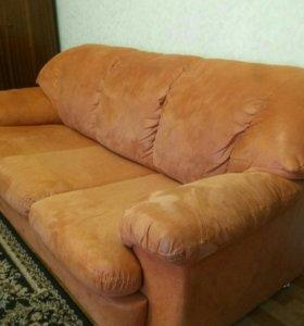 Диван кресло комплект бу