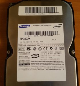 Жёсткий диск IDE 80Gb