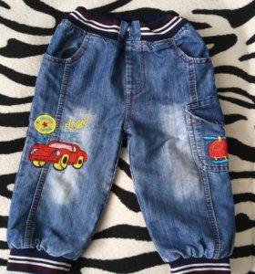 Утеплённые джинсы на мальчика, р-р 80